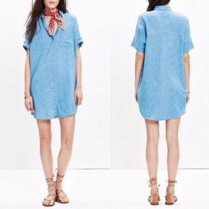 Madewell denim courier shirt dress XS F0627